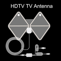 스페인 warehou를 디지털 HDTV 안테나 평면 면도기 50 마일 범위 13 피트 동축