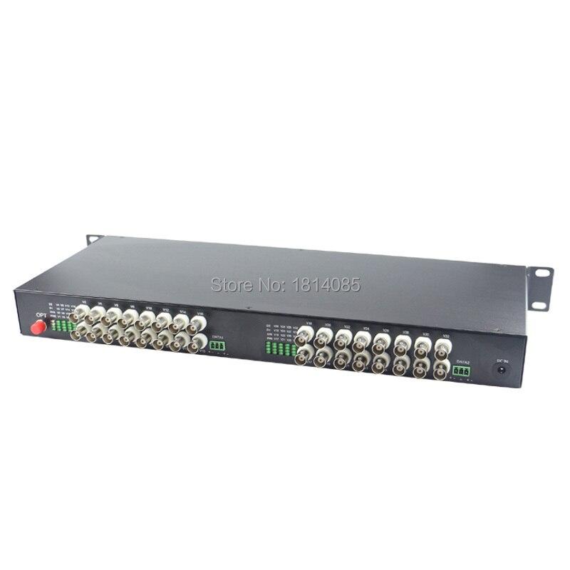 32channel Digital Video Optical Transceiver Single fiber single mode fiber optic converter FC 20KM