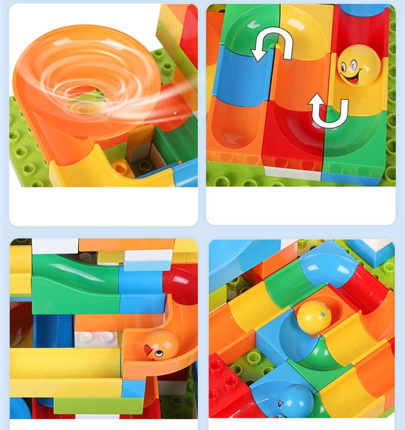 DIY Colorido Grandes Blocos Castelo/Figura/Carro/Pista de Construção Blocos De Construção Educacional Para Crianças Compatíveis Com LegoED duploED