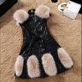 М-XXXL Плюс Размер Искусственного Меха Пальто Элегантный Зима Женщины Шуба Искусственная Овчины Сращены Моды Рукав Теплое Пальто