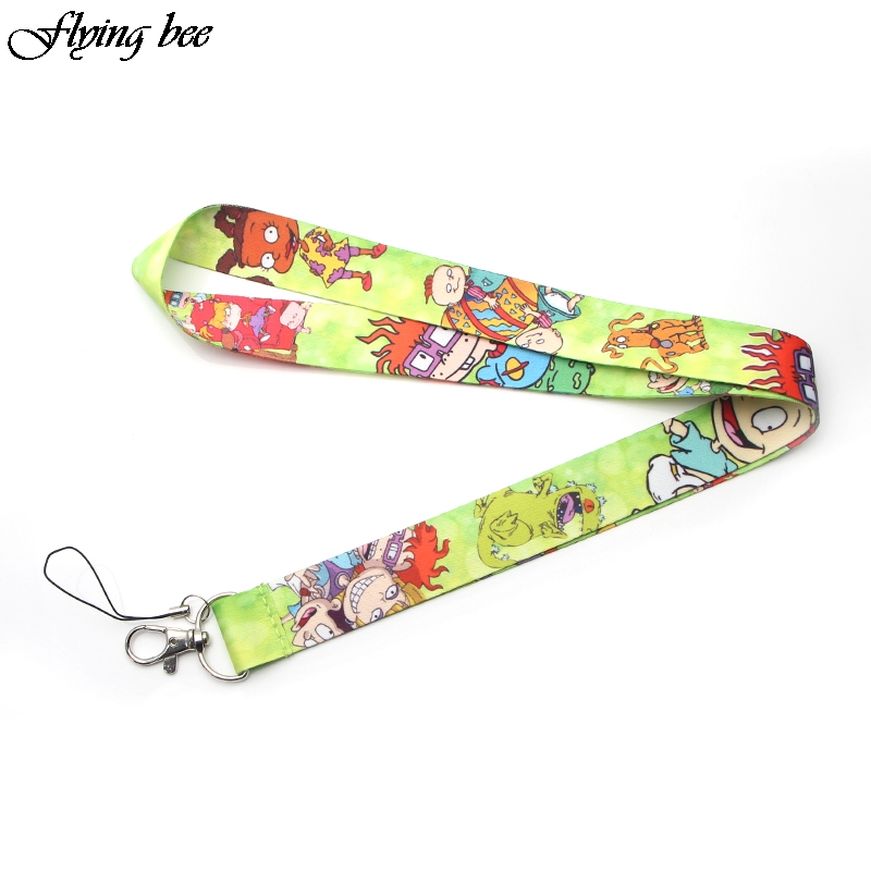 Flyingbee Kawaii Kids Keychain Cartoon Cute Phone Lanyard Women Fashion Strap Neck Lanyards For ID Card Phone Keys X0094