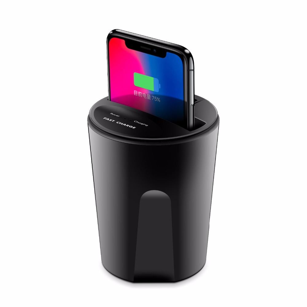 font b 2018 b font Car Wireless Charger Wireless Charger Cup Qi Charging Pad with