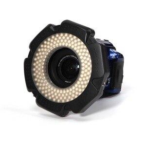 Image 3 - Selens LED ビデオリングライト 160 チップ調光可能 LED デジタル一眼レフ DV ビデオカメラビデオ 5600 18K 光源送料レンズアダプタリング環状ランプ