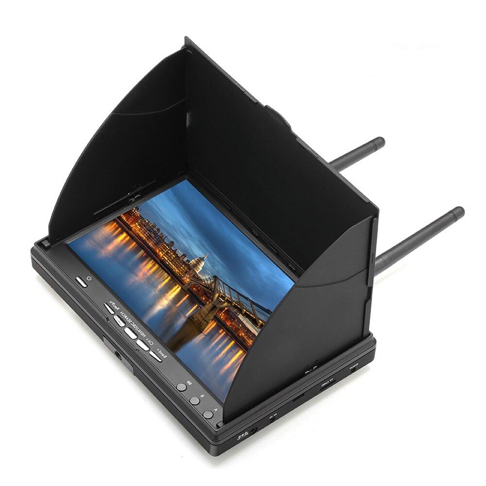 5802D 5,8G 40CH FPV DVR монитор Встроенный двойной приемник с функцией DVR для радиоуправляемого дрона
