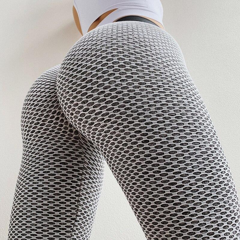 SVOKOR Leggings mujer cintura alta punto Fitness leggins mujer alta estiramiento ropa deportiva señoras poliéster casual Pantalones