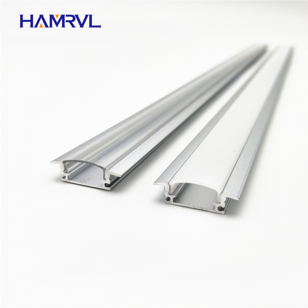 5pcs 20inch 0.5m 12mm Strip Embedded Led Aluminium Profile For  Bar Light,  Aluminum Channel, Flat  Housing