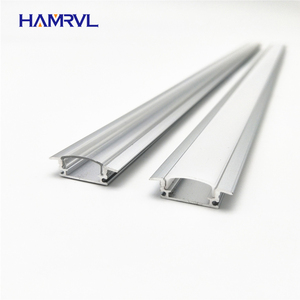 5pcs 20inch 0.5m 12mm strip Embedded led aluminium profile for bar light, aluminum channel, flat housing(China)
