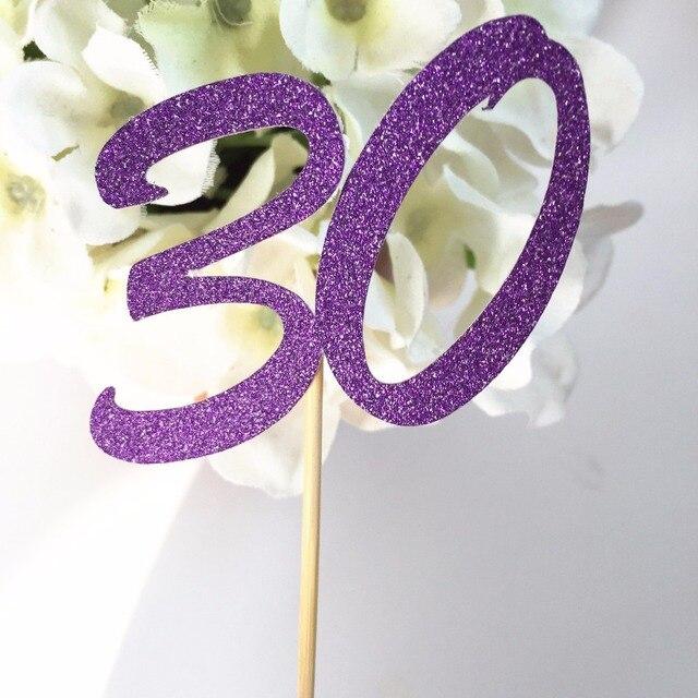 Fiesta de cumpleaños de adultos felices edad glitter Oro número 30 ...