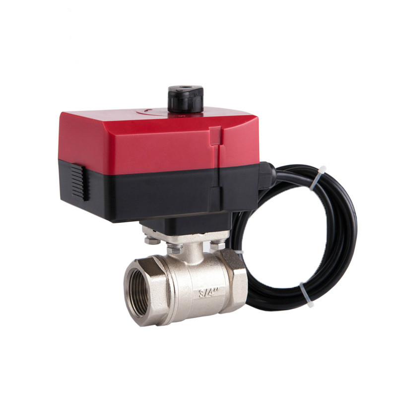 Electric valve brass motorized ball valve two way valve Can be manually and automatically 24v DN15 DN20 DN25 DN32 motorized ball valve dn15 dn32 three line two way control electrical valve 5 v 12v 24v