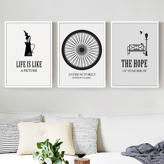 Haochu Triptych Hidup Mengutip Besok Harapan Sepeda Roda Hitam Putih