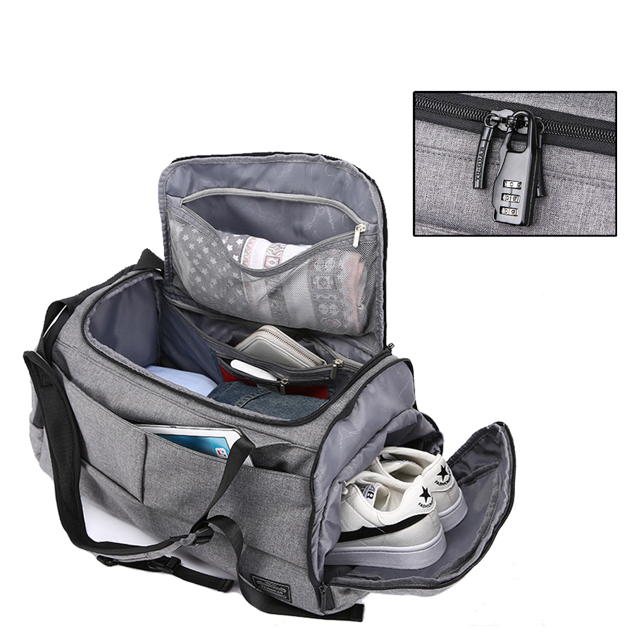 d0e1a08b5ca Men Travel Bag Waterproof Sport Gym Bag Multifunction Tote Backpack For  Shoes Storage Fitness Anti-