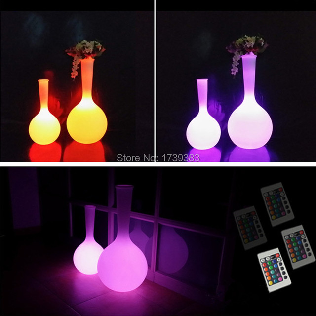 Plastic pe rechargeable outdoor waterproof glowing led floor lamp plastic pe rechargeable outdoor waterproof glowing led floor lamp remote control led big flower pot rgb mozeypictures Image collections