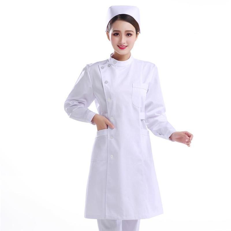 Ropa Medica De Hospital Para Mujer Ropa De Enfermeria Uniforme De Enfermera Monos De Algodon Rosa Blanco Azul Vestidos Medicos De Alta Calidad