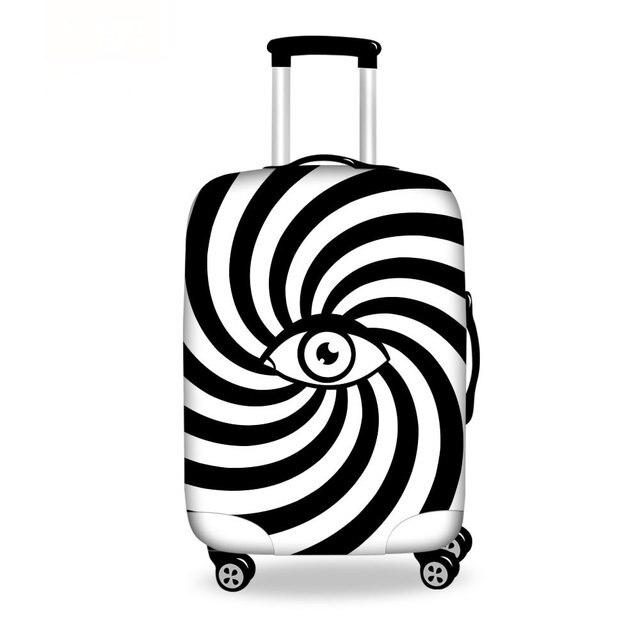 Прочный эластичный дорожные принадлежности глаз печать камера защитная крышка растягиваемые чемодан для 18 - 30 чемоданы размер S / мл