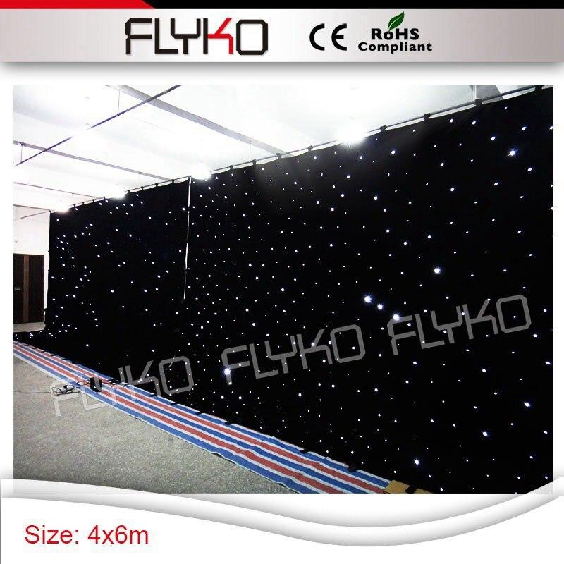 Dj mariage bar tv fête spectacle décor led rideau 4x6 m scintillant blanc lumières rideau étoilé led