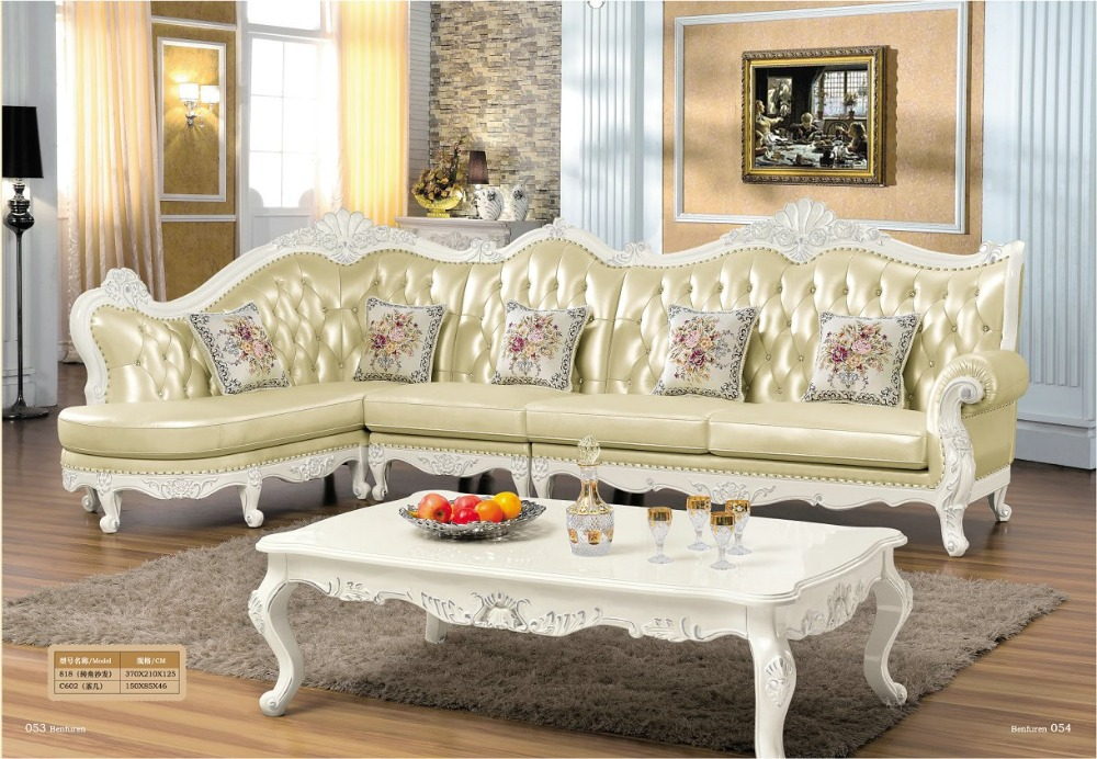 2019 Sale Beanbag Arrival European Style Set No Bean Bag Chair Sofas For Living Room Hot Luxury Antique Leather Sofa Corner
