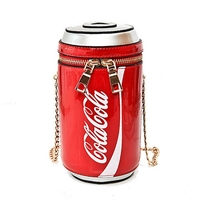 Summer Fashion New Handbags High Quality PU Leather Women Bag Personality Cola Cup Sweet Girl Mini