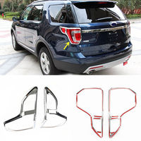 2pcs Car ABS Plating Tail Light Decorative Cover Frame For Ford Explorer 2016 2018