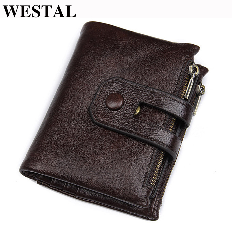 KHGUDS Genuine Leather Slim MenS Wallet Leather Men Clutch Wallets Male Fashion Coin Purses