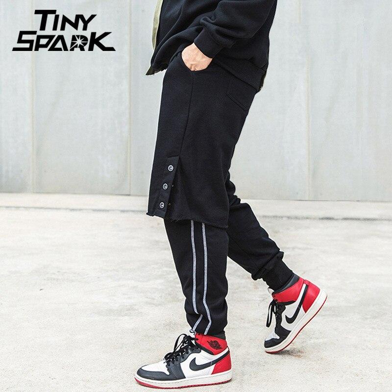 buy 2018 hip hop pant side striped sweatpant men fashion casual joggers pocket. Black Bedroom Furniture Sets. Home Design Ideas