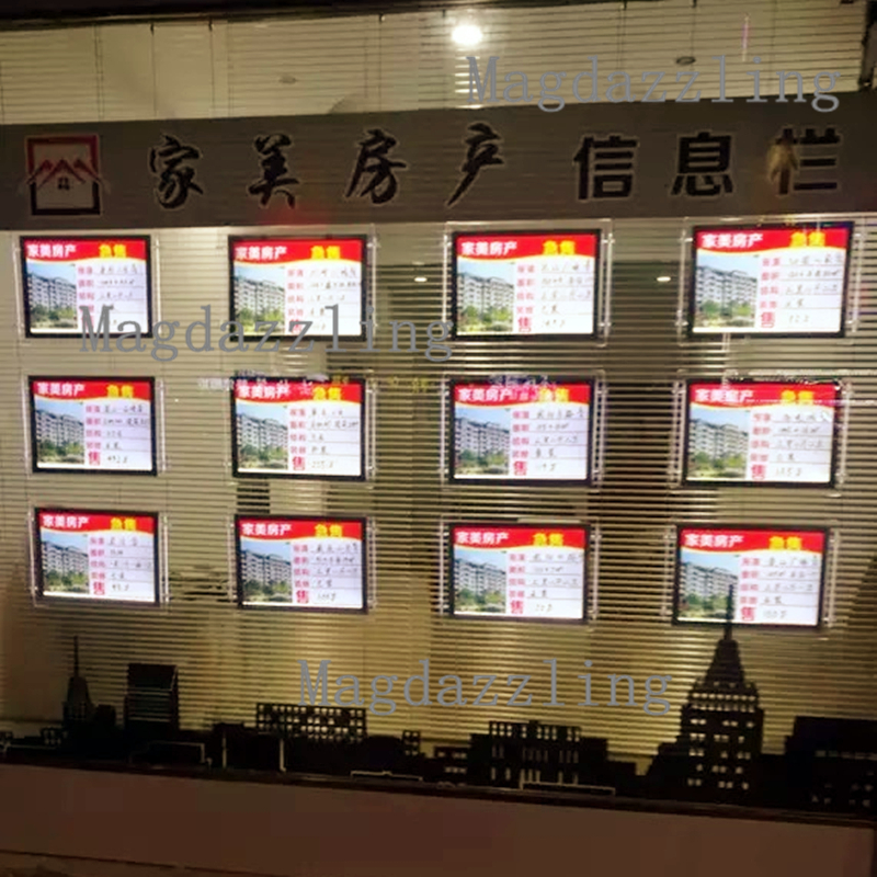 What Is Light Industrial Real Estate: A4 Landscape Hanging Double Sided Acrylic Frame LED Light