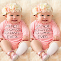 Bodys cute newborn boy girl clothes with long sleeves cotton pink Letter jumpsuit summer baby boys girls Rompers SR146