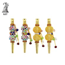 ФОТО sy 1pc high quality fashion creative handmade alloy tobacco  hookah mouth shisha narguile filter hookah mouthpiece