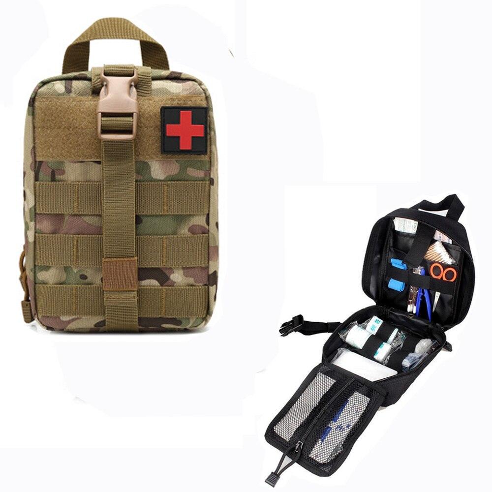 Caminhadas edc molle tático bolsa saco de primeiros socorros de emergência sobreviver kit pacote viagem acampamento ao ar livre escalada kits médicos saco