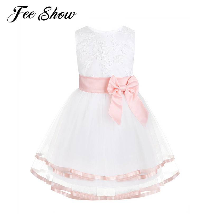 3y Ivory Pink New Christening Party Wedding Flower Girl Birthday Dress age  3M