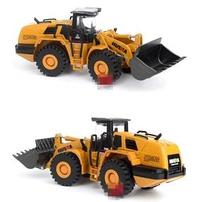 Image 3 - ハイシミュレーション合金エンジニアリング車両モデル、1: 50ローダーシャベルトラックおもちゃ、金属鋳物、おもちゃの車、送料無料