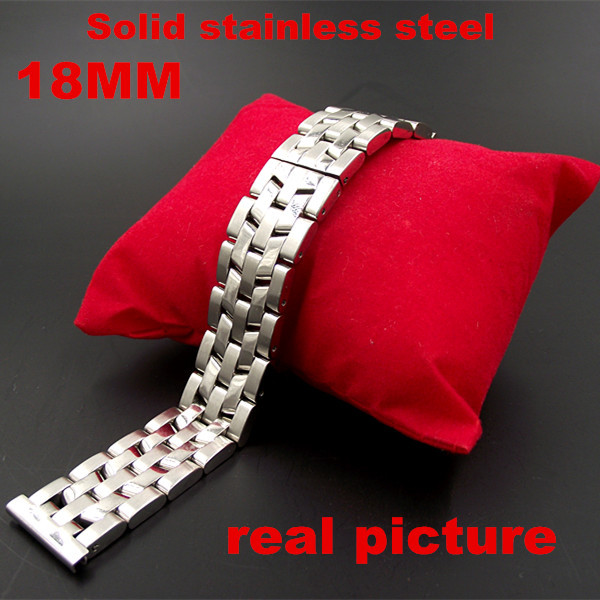 New arrived - 1PCS High quality 18MM Solid Stainless Steel links Watch band Watch strap silver color - 110301 ламинатор gbc fusion 1000l а3