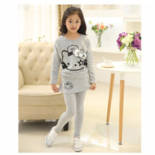 d40410821273 Baby girl's clothes kids clothes baby long sleeve T-shirt+pants Beibei  fashion sports