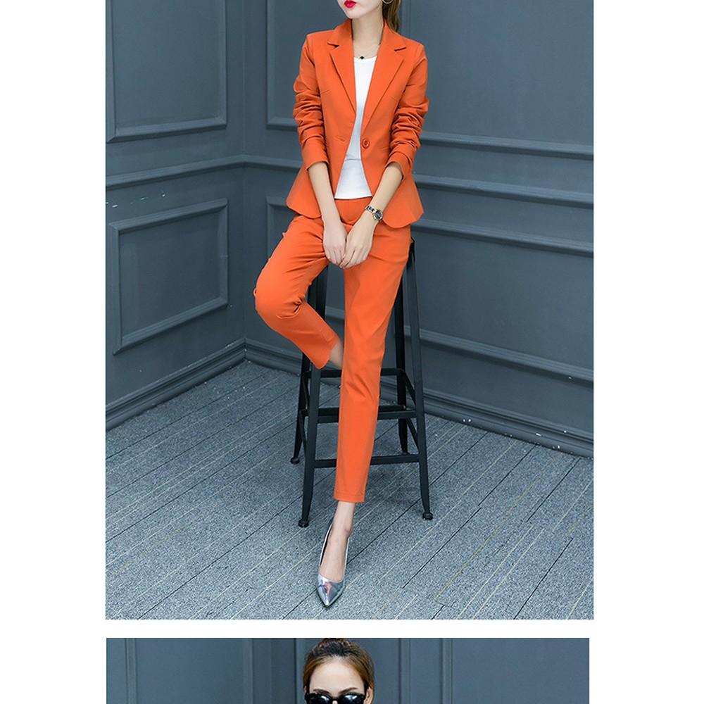 2017 w nowym stylu mody OL eleganckie kobiety pant suits formalna firm garnitur nosić pełne rękawem jednego przycisku femme blazer garnitur szczupła kurtka 4
