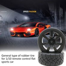 1/10 Remote Control Flat Sports Car Rubber Tires Universal Type 1 Pair A Variety Of Wheel Specifications Random