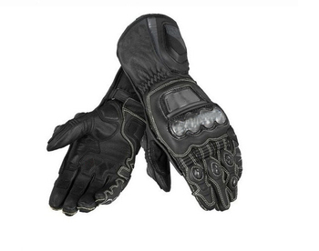 New Arrival! Full Metal Motorcycle Gloves Sport Racing Cowhide Genuine Leather Gloves Orange