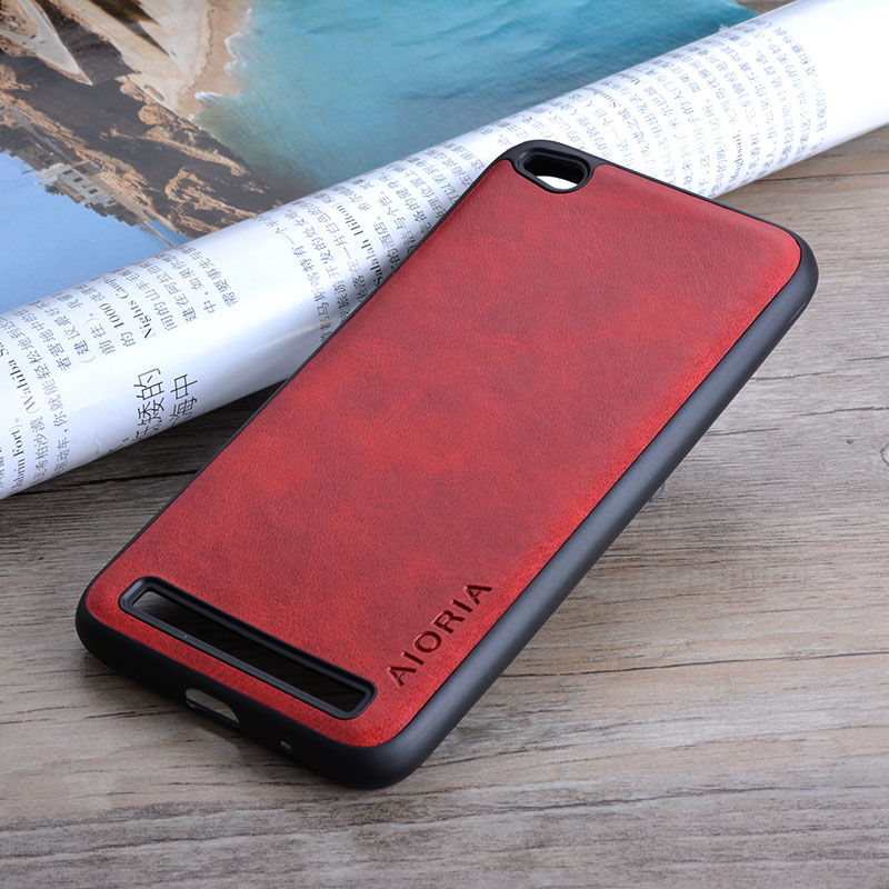 Skin-Cover Phone-Cases Vintage Xiaomi Redmi Coque Business-Style 5a for Luxury Capa Funda