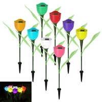 4 pièces tulipe lumière LED paysage lampe à énergie solaire pour jardin chemin pelouse décoration de haute qualité