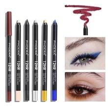 2019 12colors Waterproof Long-lasting Eye Liner Pencil Pigment Colorful Eyeliner Pen Eye Cosmetics Makeup Tools