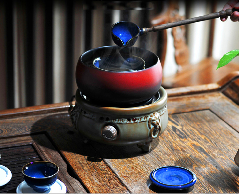 Electronic Teapot Warmer Coffee Tea Cup Warmer Tea Milk Japaneses type Ceramic Warmer Set Tea Maker
