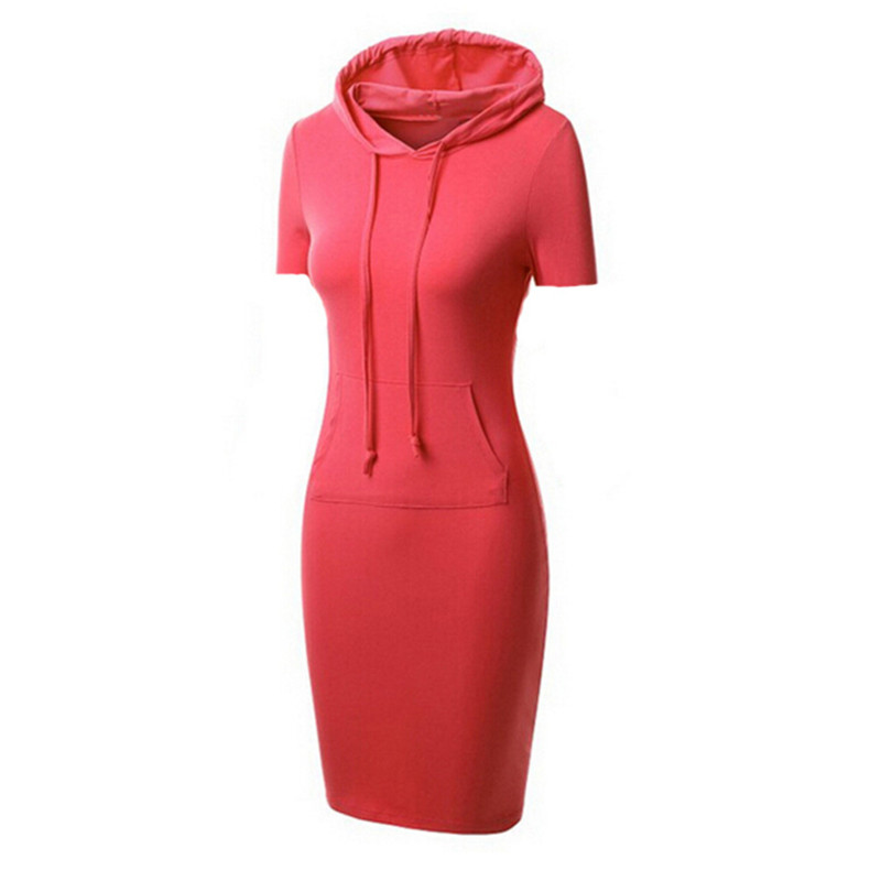 New 2017 Autumn and Winter Women Floor-Length Dress Casual Hips short sleeves Long Style Hooded Dress Lady Casual Dress AR888