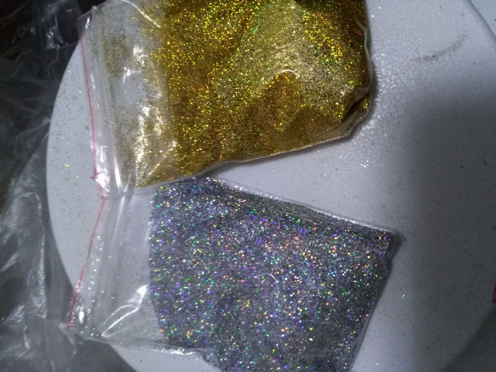 0 2mm 10g Gold Silver Diamond Holographic Glitter Rainbow Glitter Loose Glitter UV Gel Nail Pigment Fine Glitter CSF65743 in Nail Glitter from Beauty Health