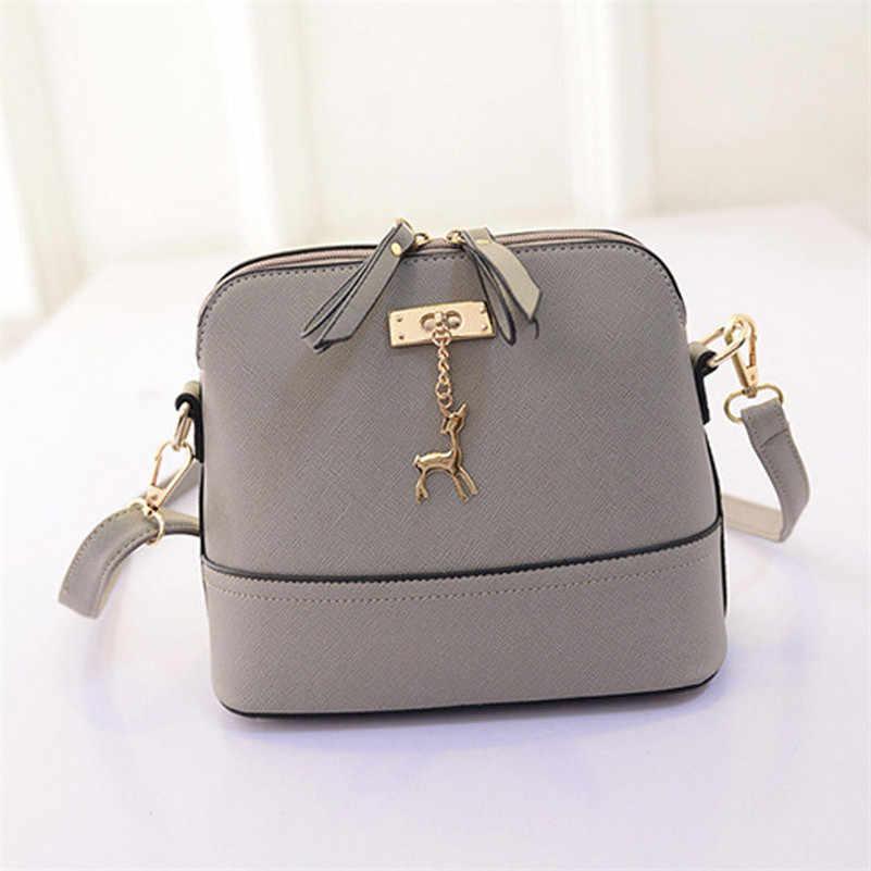 HMUNII для женщин сумки на плечо сумка кожа маленькая сумка в форме раковины известный бренд через олень сращены столкновения цвет