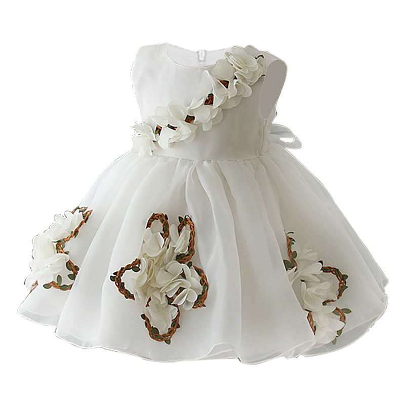 803727849b Baby Girl Dresses for Wedding party 0-1-2-3-4-5 years kids girls birthday  dress 3D flower Princess Prom dress children clothes