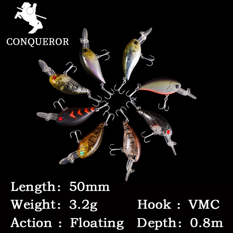 AOCLU wobblers Jerkbait 10 Colors 5cm 3.2g Hard Bait Minnow Crank Fishing lures Bass Fresh Salt water 14# VMC hooks 14g 10cm crankbait fishing wobblers hard fishing tackle swim bait crank bait bass troll fishing lures 10 colors pike perch