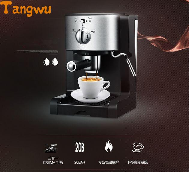 Free shipping new Espresso machine semi-automatic all use commercial capsule steam free shipping the espresso machine use commercial semi automatic instant steam double charged coffee machine