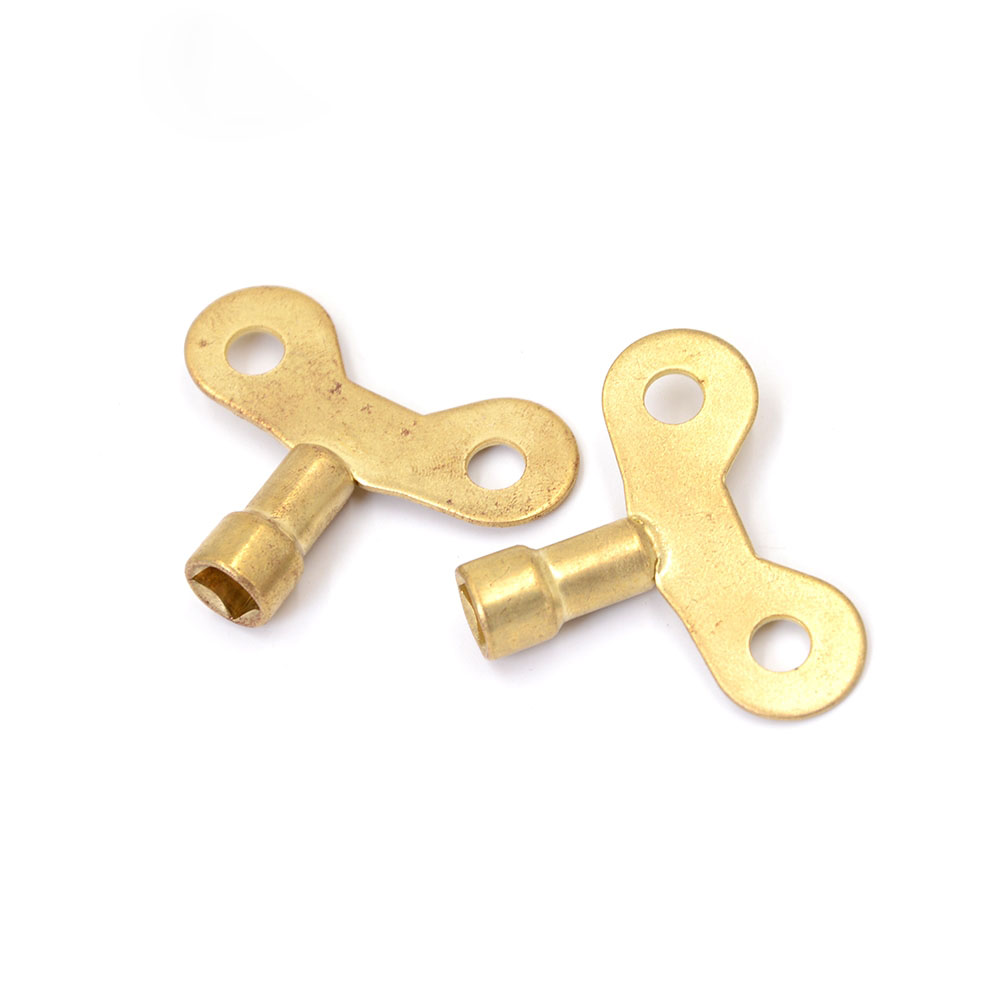 2pcs Special Key For Water Tap Solid Brass Lock New Radiator Plumbing Bleed Key Square Socket Hole Water Tap Faucet Key