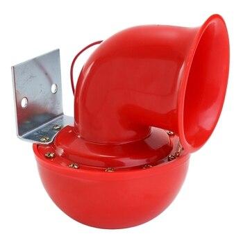 Głośny 200Db 12V czerwony elektryczny róg byka trąbka pneumatyczna wściekły dźwięk dla samochodów motocykl ciężarówka łódź