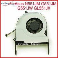 Ücretsiz Kargo Yeni MF75090V1-C330-S9A Asus N551JM G551JM G551JW GL551JX Için Soğutma Fanı Laptop CPU Soğutma Fanı