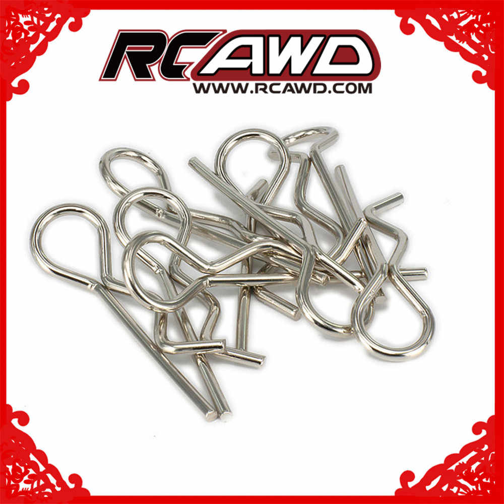 Shell cuerpo Clips Pins Secure Shell para 1/5 Himoto 1/8, 1/10, 1/16, 1/18 RC coche HPI HSP Traxxas Axial Wltoys redcat