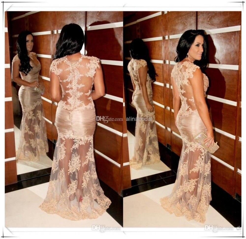 Livraison gratuite nouveauté robes de célébrité 2015 tapis rouge chaud vestido sexy robe d'été dentelle fête bal robe de soirée